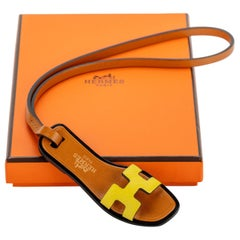 New in Box Hermes Rare Oran Yellow Bag Charm