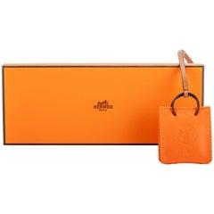 New in Box Hermes Rare Orange Bag Charm