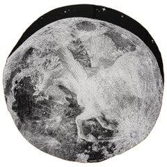 "New in Box Hermes Round Black White Scarf 54"" Round"