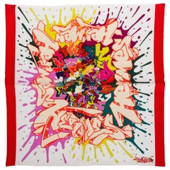 New in Box Hermes Small Silk Graffiti Gavroche Scarf