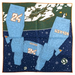 New in Box Hermes  Small Silk Spaceship Gavroche Scarf