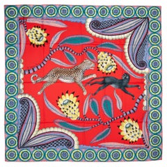 New in Box Hermes The Savana Dance Cashmere Shawl Scarf
