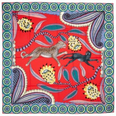 New in Box Hermes The Savana Dance Cashmere Shawl Scarf