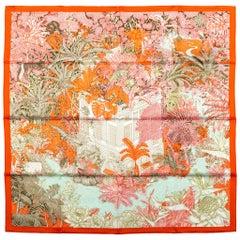 New in Box Hermes Tropical Garden Silk Scarf