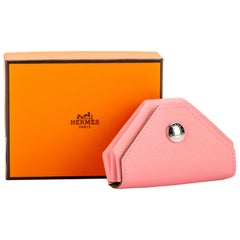 New in Box Hermes Verso Pink Green Coin Case