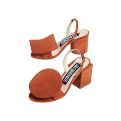 NEW in box Jacquemus 'Les Rond Carré' Terracotta Sandals EU36