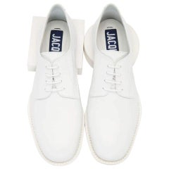 NEW in box Jacquemus White Clown Derbys Leather Oxford Shoes EU40