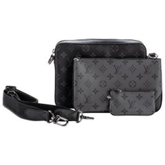 New in Box Louis Vuittom Men Multi Pochette Black Gray Bag
