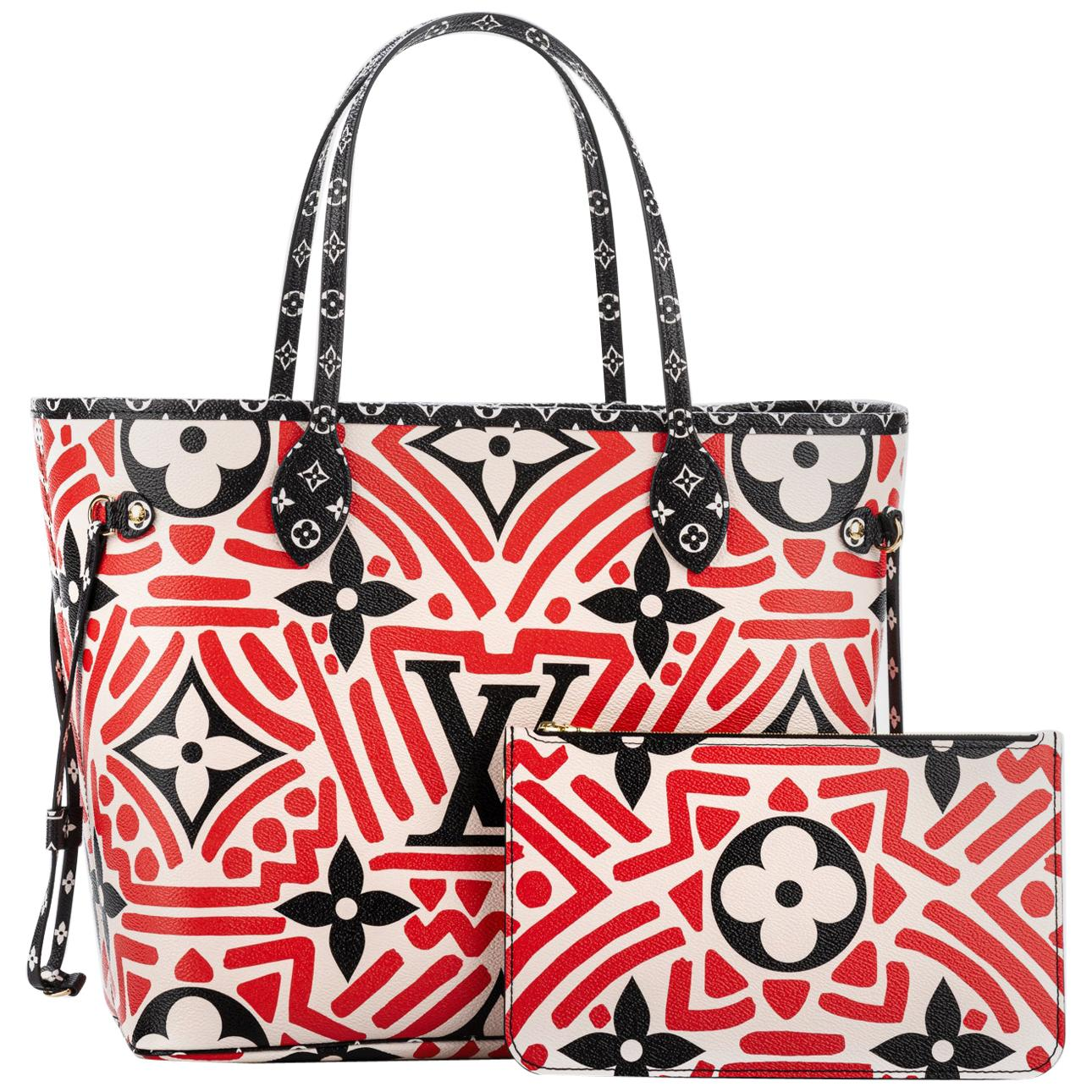 New in Box Louis Vuitton 2020 Neverfull Red Black Geometric Bag