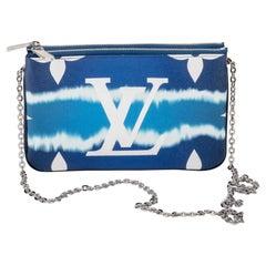 New in Box Louis Vuitton Blue Crossbody Pochette Bag