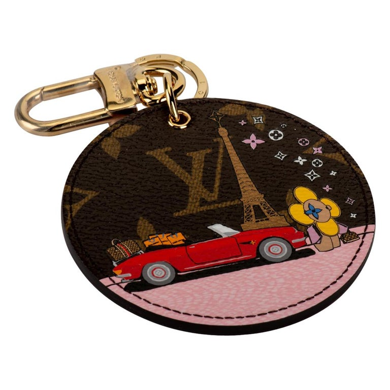New in Box Louis Vuitton Christmas 2019 Paris Keychain For Sale