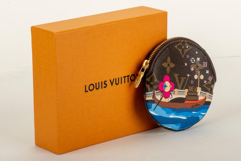 Louis Vuitton Christmas 2019 limited edition Venice round coin case. Brand new with dust cover and box.