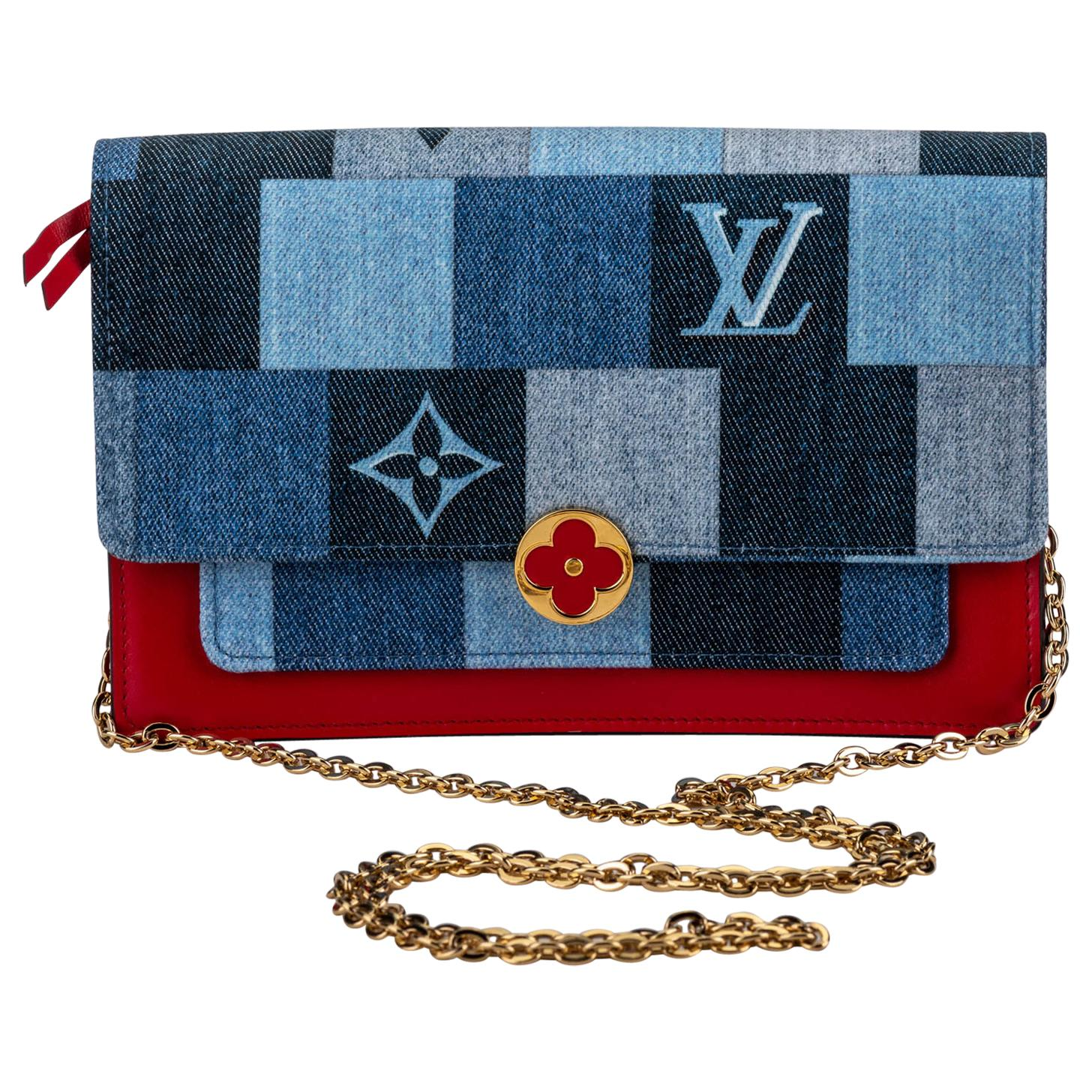 New in Box Louis Vuitton Denim Crossbody Bag