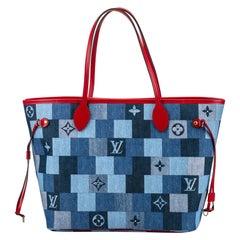 New in Box Louis Vuitton Denim Neverfull Bag
