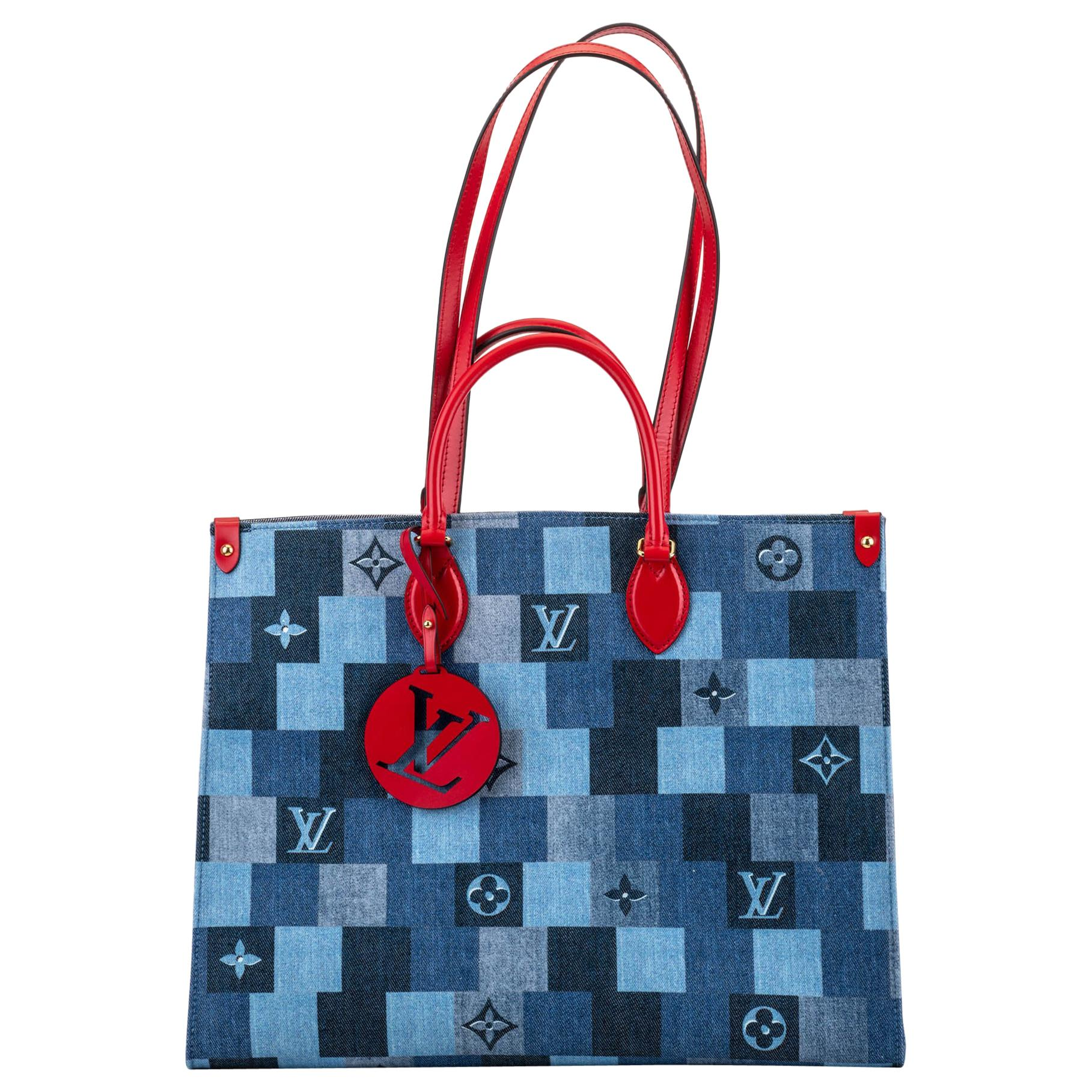 New in Box Louis Vuitton Denim On The Go Bag