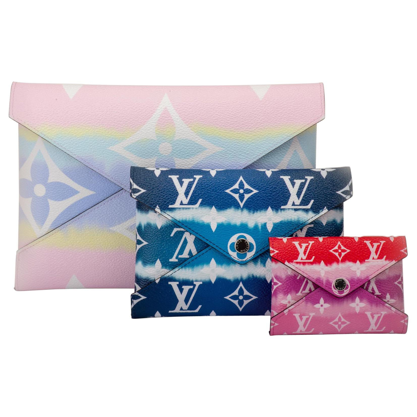 New in Box Louis Vuitton Escale Limited Edition Puchettes Clutch Bag - Set of 3