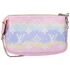 New in Box Louis Vuitton Escale Pink Pochette  Bag