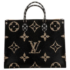 New in Box Louis Vuitton Limited Edition Animalier On The Go Tote Bag
