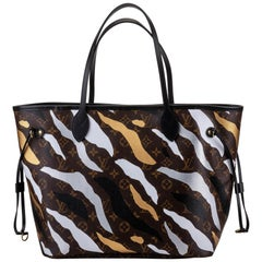 New in Box Louis Vuitton Limited Edition Camouflage Neverfull MM Tote Bag