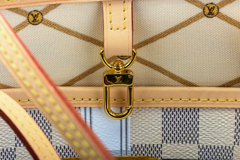 New in Box Louis Vuitton Limited Edition Capri Neverfull Damier Azur Bag For Sale 5