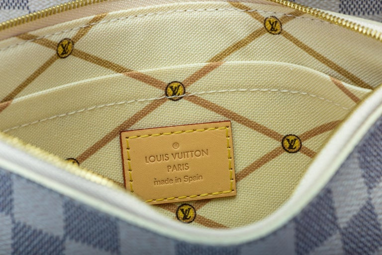 New in Box Louis Vuitton Limited Edition Capri Neverfull Damier Azur Bag For Sale 12