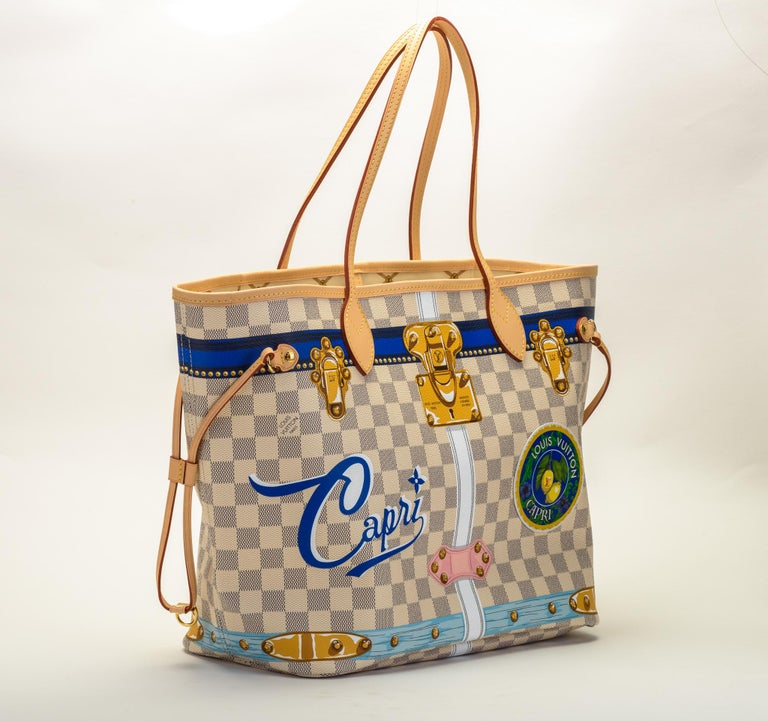 Brand new in box limited edition Louis Vuitton Capri neverfull. 250 numbered pieces. Comes with original duster and box.