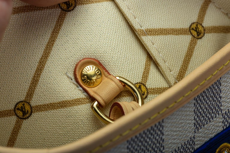 New in Box Louis Vuitton Limited Edition Capri Neverfull Damier Azur Bag For Sale 4