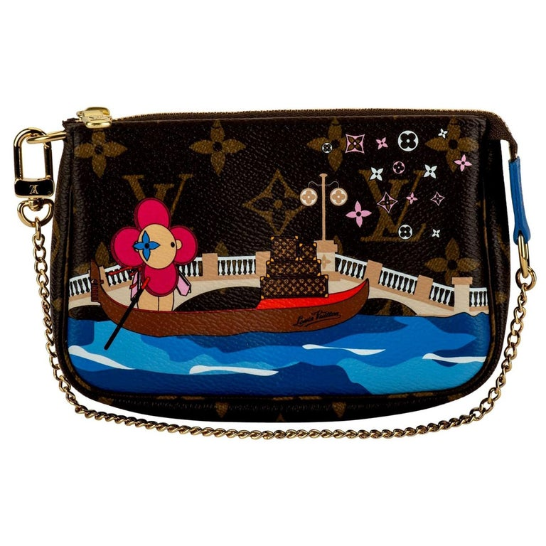 New in Box Louis Vuitton Limited Edition Christmas Venice Pouchette bag For Sale