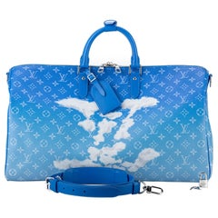 New in Box Louis Vuitton Limited Edition Clouds Keepall Abloh Bag