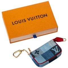 New in Box Louis Vuitton Limited Edition Denim Micro Pochette Bag