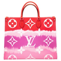 New in Box Louis Vuitton Limited Edition Escale Red On The Go Bag