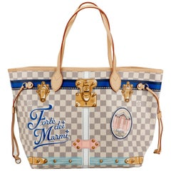 New in Box Louis Vuitton Limited Edition Forte Damier Neverfull Tote Bag