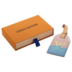 New in Box Louis Vuitton Limited Edition Luggage Name Tag Saint Tropez
