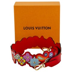 New in Box Louis Vuitton Limited Edition Red Bag Strap