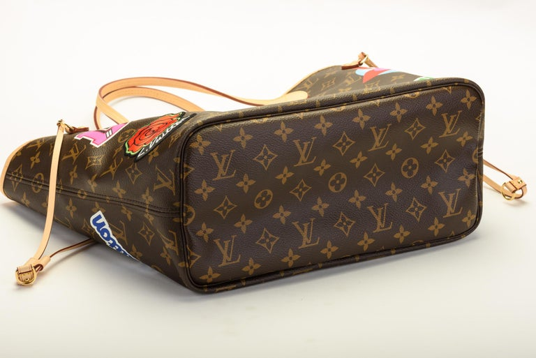 ff63aed682ed New in Box Louis Vuitton Limited Edition Stickers Neverfull Tote Bag In New  Condition For Sale
