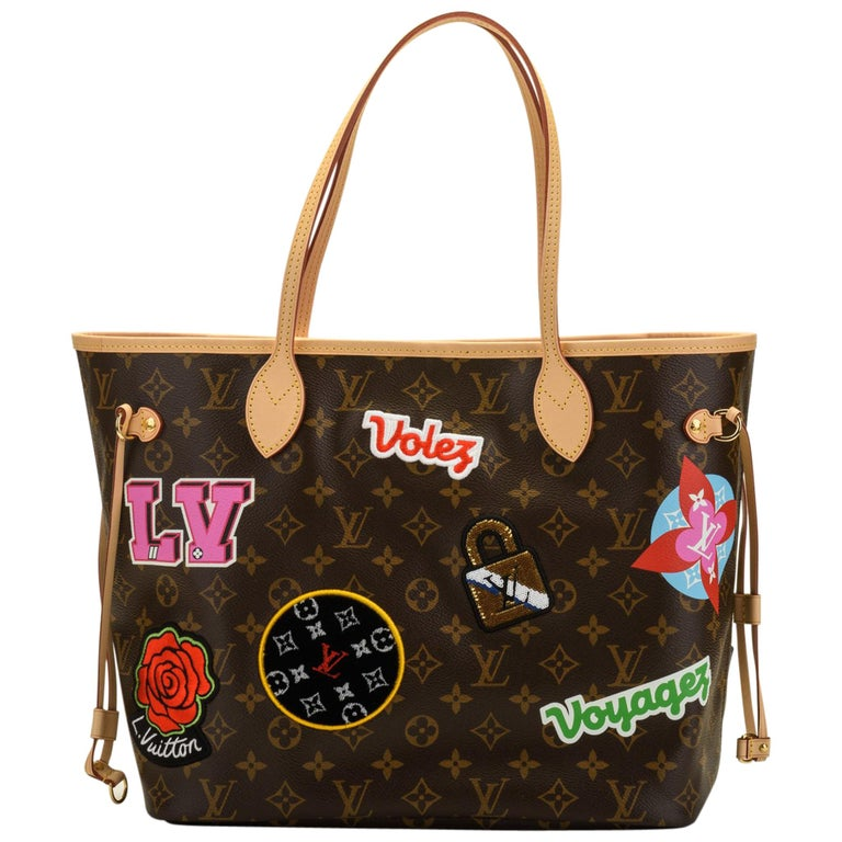 cf007841fc New in Box Louis Vuitton Limited Edition Stickers Neverfull Tote Bag For  Sale at 1stdibs
