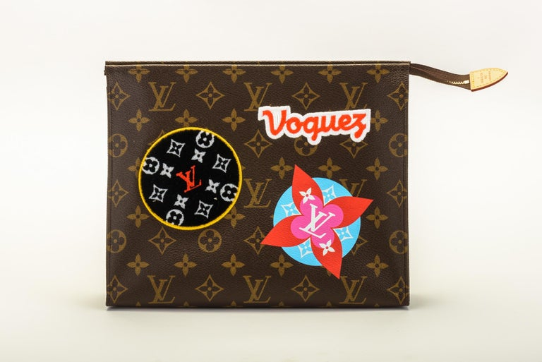 New in Box Louis Vuitton Limited Edition Stickers Pouchette Bag In New Condition For Sale In West Hollywood, CA