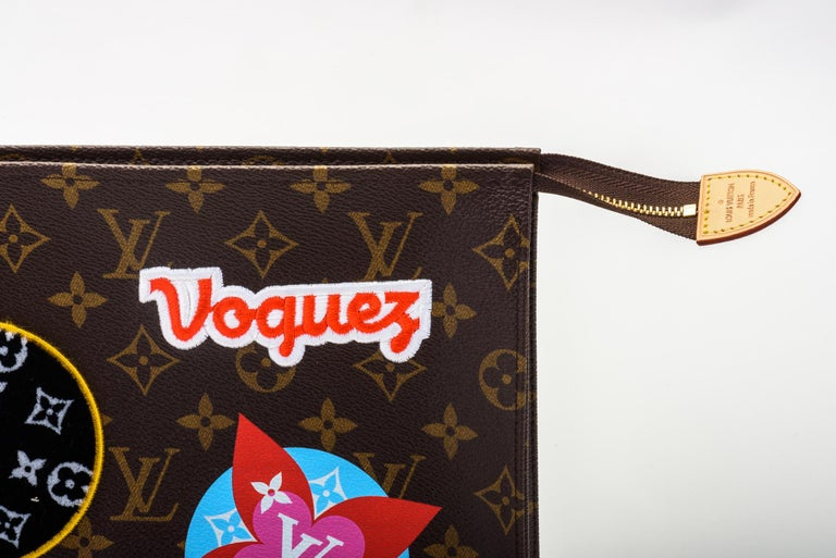 New in Box Louis Vuitton Limited Edition Stickers Pouchette Bag For Sale 1