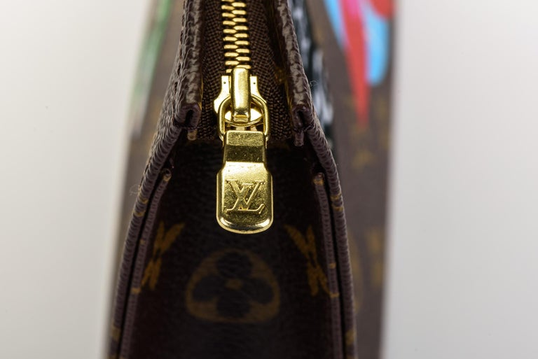 New in Box Louis Vuitton Limited Edition Stickers Pouchette Bag For Sale 3