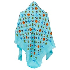 New in Box Louis Vuitton Limited Edition Turquoise Shawl