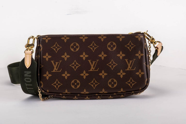 Black New in Box Louis Vuitton Multi Green Crossbody Pouch Bag For Sale