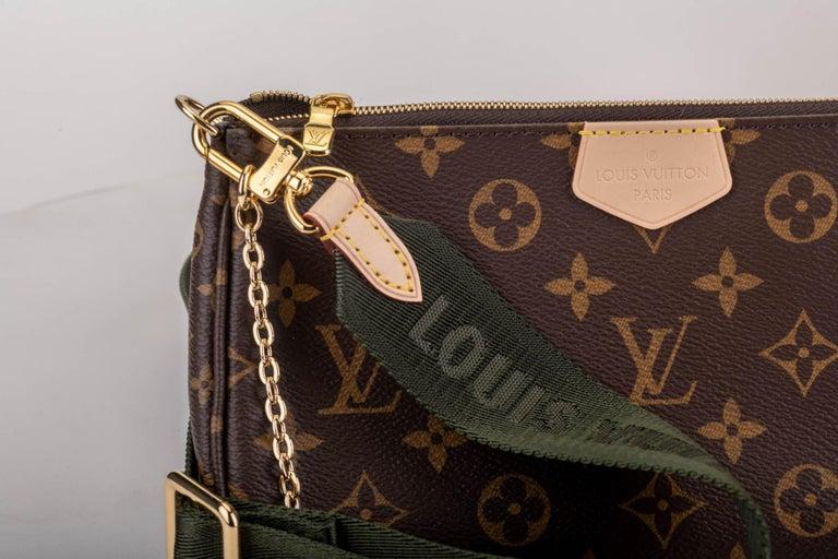 Women's New in Box Louis Vuitton Multi Green Crossbody Pouch Bag For Sale