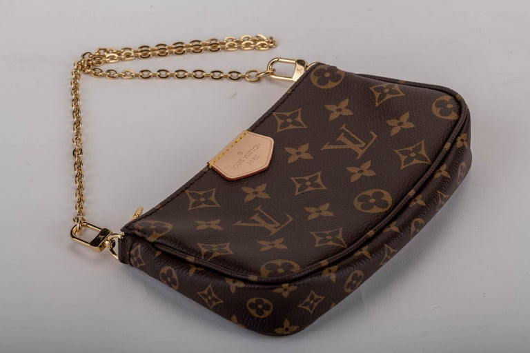 New in Box Louis Vuitton Multi Green Crossbody Pouch Bag For Sale 3