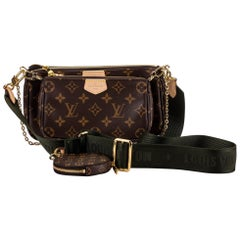 New in Box Louis Vuitton Multi Green Crossbody Pouch Bag
