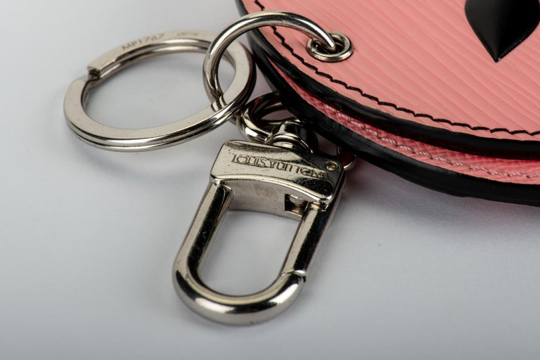 New in Box Louis Vuitton PInk Double Mirror Bag Charm For Sale 1