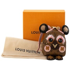 New in Box Rare Louis Vuitton Mini Owl Backpack Charm