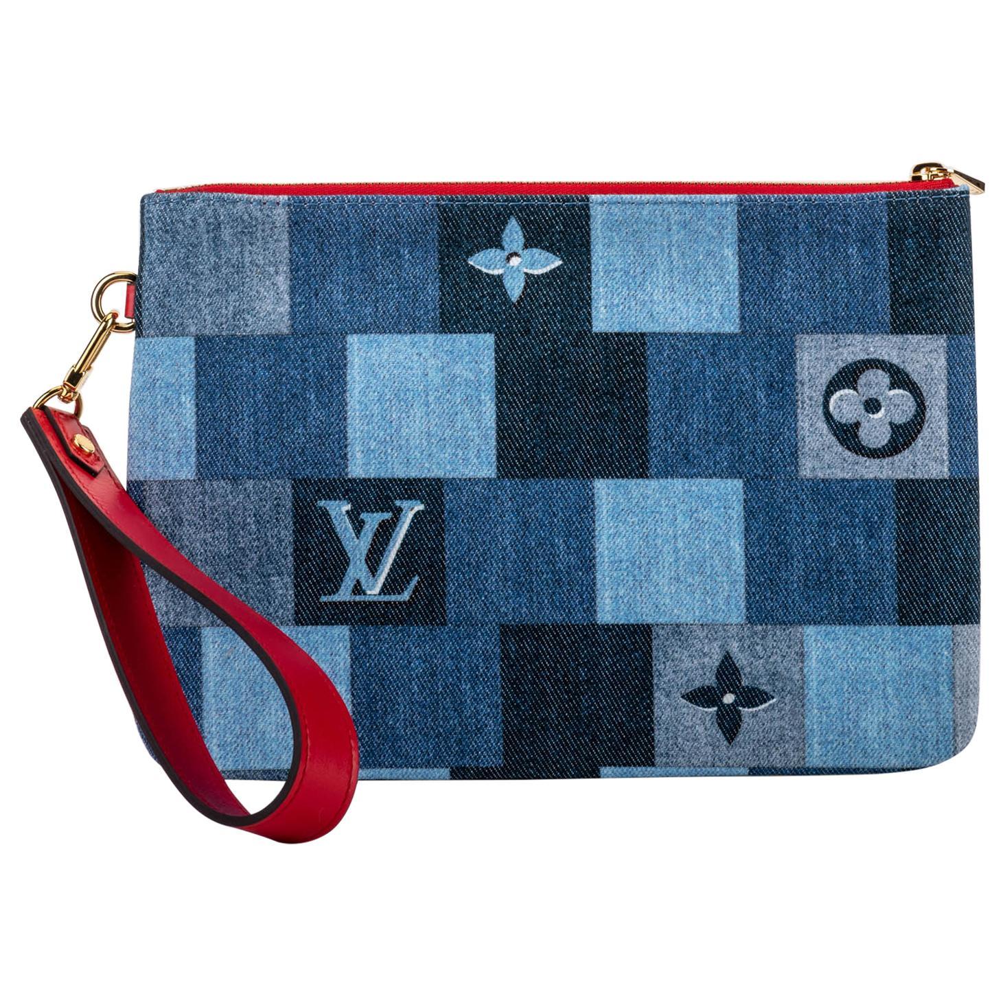 New in Box Vuitton Denim Pochette Bag