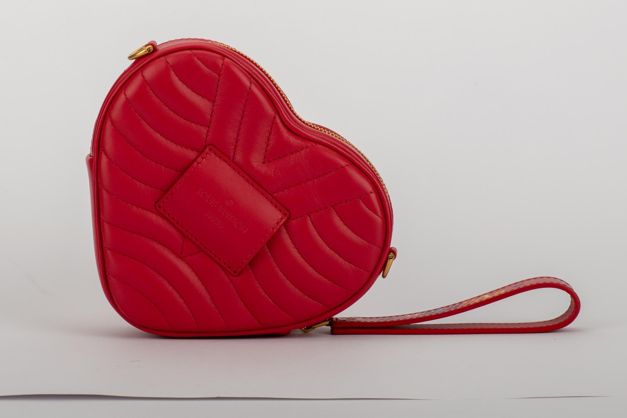 59dfb09850bc New in Box Vuitton Limited Edition Red Heart Charm Handbag Clutch Belt Bag  For Sale at 1stdibs