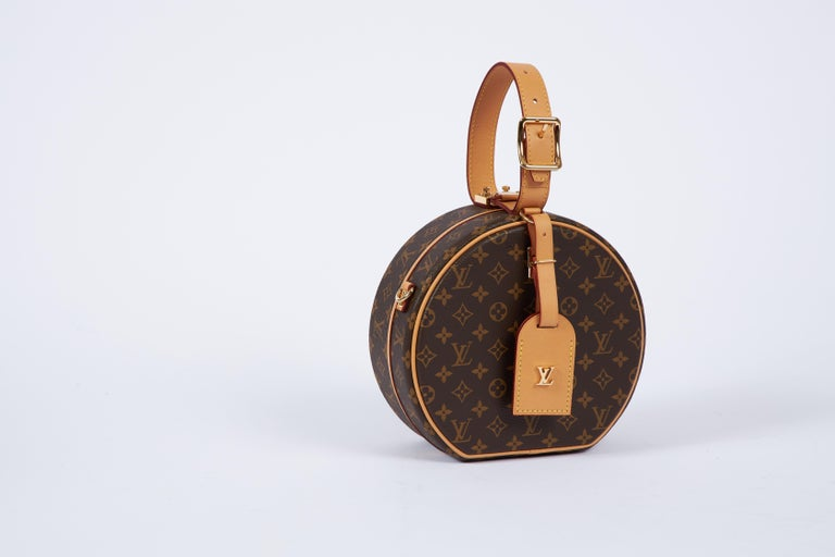 Brown New in Box Vuitton Monogram Mini Hatbox For Sale