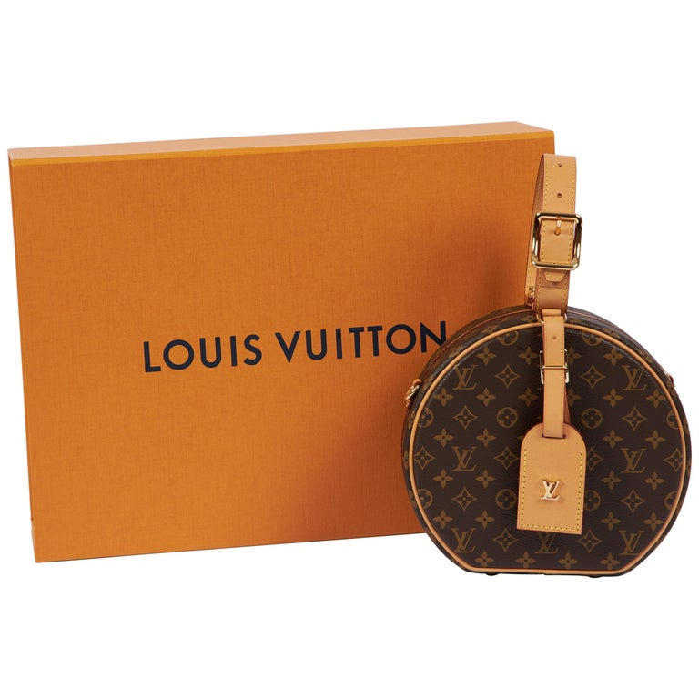 New in Box Vuitton Monogram Mini Hatbox For Sale